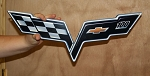 C6 Corvette 2005-2013 Centennial Cross Flags Metal Sign