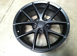 C6 Corvette 2005-2013 Matte Black Spyder Style Wheels - Set Of Four - 18x9.5 / 19x10