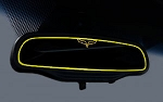 C6 Corvette 2005-2013 Rearview Mirror Custom Painted Trim - AutoDim or Standard - Logo Selection