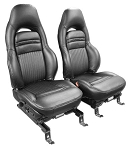 C5 Corvette 100% Leather Seat Covers - Solid