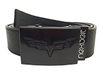 C6 Corvette 2005-2013 Crossed Flags Emblem Belt - Black