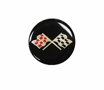 C3 Corvette 1968-1982 Cross Flag Wheel Decals - Colored Flags