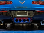 C7 Corvette Stingray/Z06/Grand Sport 2014+ Custom Painted Illuminated Exhaust Filler Panel - Perforated