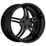 C7 Corvette Stingray 2014+ Forged SR1 Custom Wheels - Black / Chrome