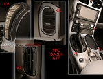C6 Corvette 2005-2013 Hydro Carbon Fiber Interior Dash Trim Kit - 9 Pcs