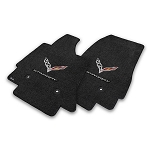 C7 Corvette Stingray 2014-2019 Lloyd Ultimat Crossed Flags/Stingray Script Floor Mats