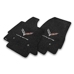 C7 Corvette Stingray/Z06/Grand Sport 2014-2019 Lloyd Ultimat Crossed Flags/Corvette Script Floor Mats