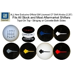 C7 Corvette Stingray/Z06/Grand Sport 2014+ 7 Speed Shift Knobs - Colored Text or Stingray Emblem