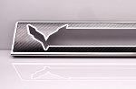 C7 Corvette Stingray/Z06/Grand Sport 2014-2019 Carbon Fiber Door Sill Overlay w/Stainless Steel Trim