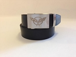 C5 Corvette 1997-2004 Crossed Flags Emblem Belt - Nickel
