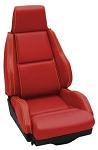 C4 Corvette 1984-1993 Leather Seat Cover Replacements Accent Stitched