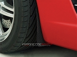 C6 Corvette 2005-2013 Z06 Style Hydro Carbon Fiber Flat Mud Guards Front 2Pc