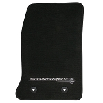 C7 Corvette Stingray 2014+ GM Front Floor Mats With Logos - Black