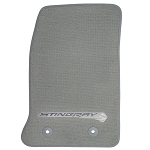C7 Corvette Stingray 2014+ GM Front Floor Mats With Logos - Gray