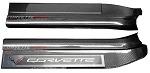 C7 Corvette Stingray/Z06/Grand Sport 2014+ Hydro Carbon Fiber Door Sill Guards