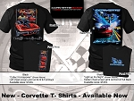 C3 C4 C5 C6 Corvette 1968-2013 Black Collect Horsepower / Light Up The Night - Screen Print T-Shirts