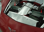 C6 Corvette 2005-2007 / 2006-2013 Z06 Hydro Carbon Fiber Radiator Cover - 2Pc