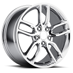 C6 C7 Corvette 2005-2014+ C7 Stingray Chrome OEM Style Z51 Wheels - 19x8.5 / 20x10