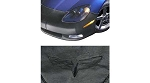 C6 Corvette 2005-2013 Front Vinyl Mask W/ Crossed Flags Emblem