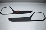 C7 Corvette Stingray/Z06/Grand Sport 2014-2019 Hydro Carbon Fiber Door Guards w/ Corvette Lettering - 2Pc
