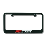 C7 Corvette Z06 2015+ License Plate Frame Z06 Supercharged Script - Black