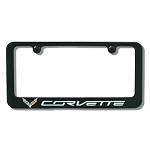 C7 Corvette Stingray/Z06/Grand Sport 2014+ License Plate Frame W/ Flag Emblem- Painted Billet Aluminum