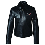 C7 Corvette Stingray 2014+ Ladies Leather Bomber Jacket