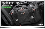 C7 Corvette Stingray/Z06/Grand Sport 2014+ 70L Duffel w/ Crossed Flag Logo