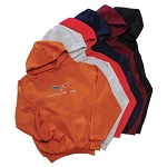C6 Corvette 2005-2013 Hooded Sweatshirt W/ Crossed Flag Logo