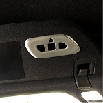 C7 Corvette Stingray 2014+ Garage Door Opener / Homelink Cover - Brushed Aluminum