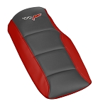 C6 Corvette 2005-2013 Leather Console Cushions - Two-Toned w/ Logo