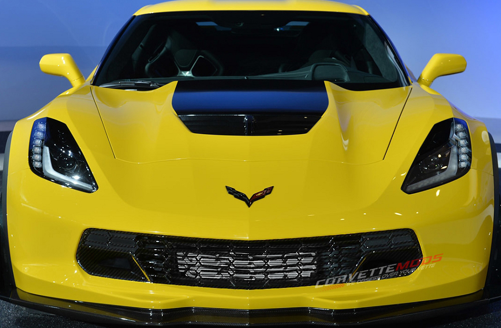C7 Corvette Stingray/Z06/Grand Sport 2014+ Hydrocarbon Fiber Z06 Lower Grille Upgrade | Corvette ...