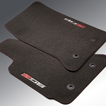 C7 Corvette 2015+ Z06 Logo Floor Mats - Black