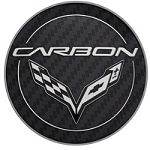 C7 Corvette Stingray/Z06/Grand Sport 2014+ GM Center Cap - Carbon Logo