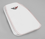 C5 Corvette 1997-2004 Console Lid Assembly - Accent Stitched W/ Crossed Flags Logo
