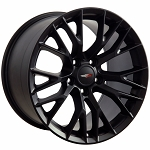 C5 Corvette Z06 1997-2004 Satin Black C7 Corvette OEM Style Wheels - 17x9.5 / 18x10.5