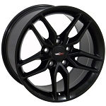C5 Corvette 1997-2004 Satin Black Z51 C7 Corvette OEM Style Wheels -17x9.5 / 18x10.5