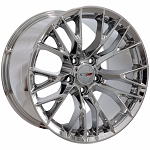 C7 Corvette Chrome OEM Style Z06 Wheels - Fitment For C5 1997-2004 17x8.5 / 18x9.5