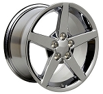 C4 Corvette 1989-1996 C6 Style Wheel Set - Chrome 17x9.5