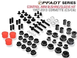 C5 C6 Corvette 1997-2013 PFADT Series Control Arm Bushing / Sleeve Kit - C5 C6 Base Steel / C6 Z06-ZR1 Aluminum