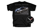 C7 Corvette 2014+ Stingray T-Shirt With Car And Script