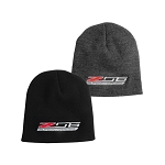 C7 Corvette Z06 2015+ Knit Pullover Beanie - Z06 Supercharged Logo