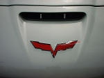 C6 Corvette 2005-2013 Emblem Custom Painted Complete Acrylic Cover - Pair