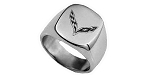 C7 Corvette Stingray/Z06/Grand Sport 2014+ Polished Stainless Steel Signet Ring - Logo Options