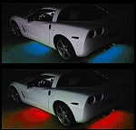 C5 C6 C7 Corvette 1997-2014+ LED Under Car Glow Lighting Kit - 4 Pieces