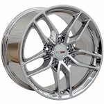 C5 Corvette 1997-2004 Chrome C7 Corvette Stingray OEM Style Z51 Wheels - 17x9.5 / 18x10.5