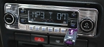 C3 Corvette 1968-1982 Custom Autosound 4 Din AM/FM/CD MP3 Stereo - Chrome / Black