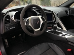 C7 Corvette Stingray 2014+ GM Round Black Suede Steering Wheel - 7 Spd Manual