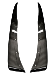 C6 Corvette Base 2005-2013 True Carbon Fiber Rear Section Mudflaps - Front / Rear