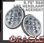C3 Corvette 1968-1982 Oracle LED Headlamp Replacement - 5.75 Inch / 36 W